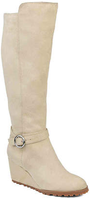 Journee Collection Veronica Extra Wide Calf Wedge Boot - Women's
