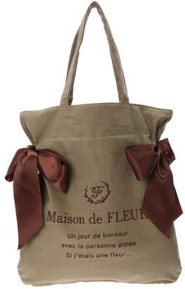 Maison de Fleur (メゾン ド フルール) - Maison de FLEUR コーデュロイダブルリボントートバッグ