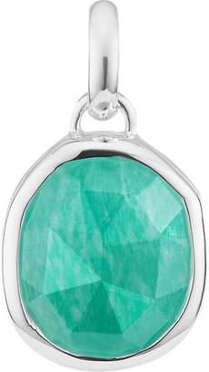 Monica Vinader Siren medium sterling silver and amazonite pendant