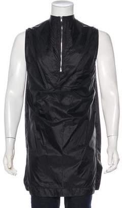 Rick Owens Nylon Longline Sleeveless T-Shirt
