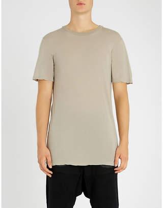 Unravel Longline cotton-jersey T-shirt