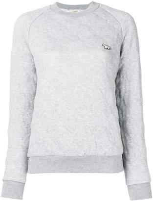MAISON KITSUNÉ embroidered logo sweatshirt