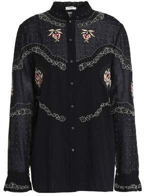Vilshenko Embroidered Cotton-Voile Shirt