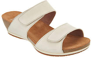 Dansko Leather Adjustable Two Strap WedgeSlides - Vienna