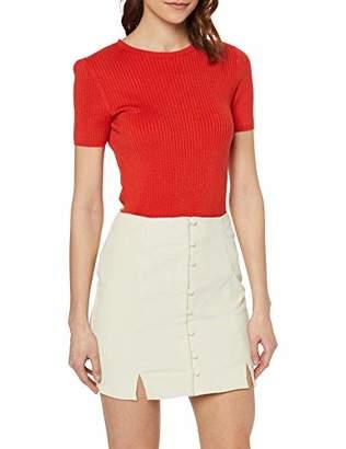 e69552e9a Glamorous Women's Corduroy Button Front Mini Dress Skirt, (Beige Q), (Size