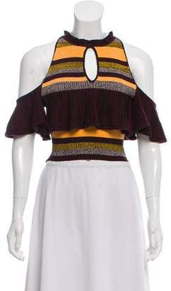 Apiece Apart Ruffle-Accented Printed Top w/ Tags