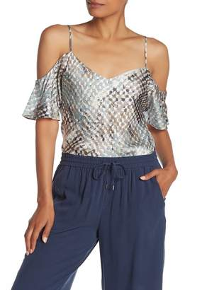 Go Silk Go by Reveal Silk Cold Shoulder Top