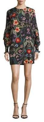 Cooper St Long-Sleeve Floral Mini Dress