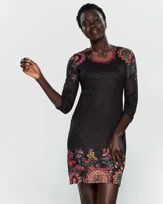 Desigual Darina Printed Lace Mini Dress