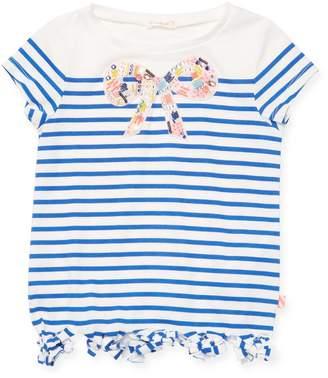 Billieblush Little Girl's Striped Bow Tee