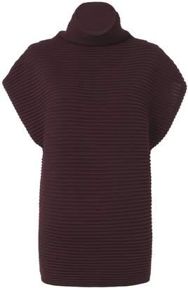 Victoria Beckham Victoria, Funnel Neck Cap Sleeve Sweater