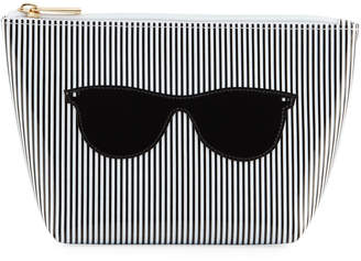Lolo Bags Avery Stripes and Sunglasses Medium Cosmetic Case