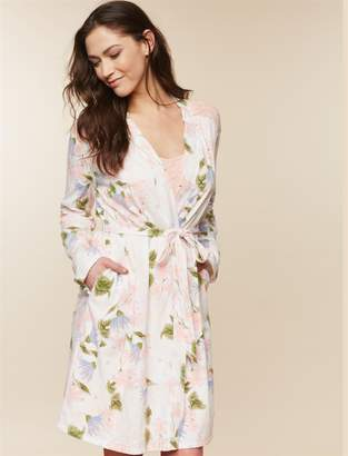 Motherhood Maternity Clip Down Nursing Nightgown And Robe Set