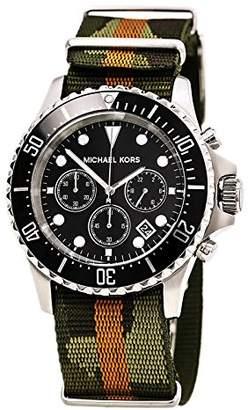 Michael Kors Men's Analogue Quartz Watch with Nylon Strap MK8399