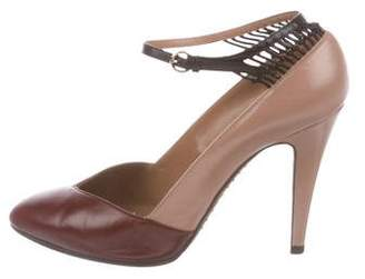 Valentino Leather Semi Pointed-Toe Pumps