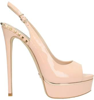 Chanel Gianni Renzi Sandal In Nude Patent Leather