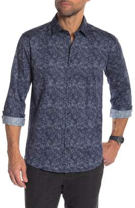Lindbergh Two-Tone Floral Printed Modern Fit Shirt