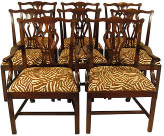 One Kings Lane Vintage 19th-C. Chippendale Dining Chairs - Set of 8 - The Barn at 17 Antiques