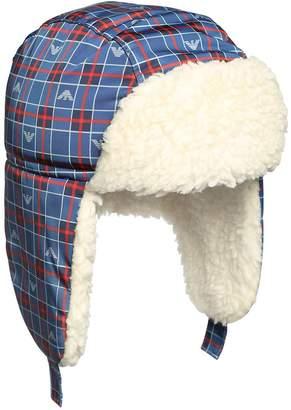 Emporio Armani Nylon & Faux Shearling Aviator Hat
