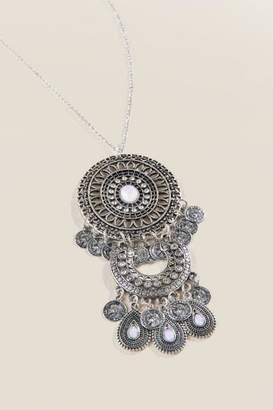 francesca's Staci Boho Pendant Necklace - Silver