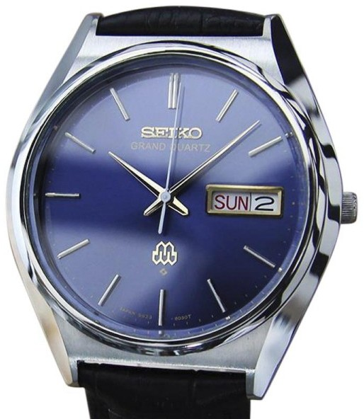Seiko Seiko Grand Stainless Steel / Leather Vintage 36mm Mens Watch