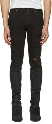 Saint Laurent Black Low Waisted Skinny Jeans $890 thestylecure.com