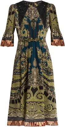 ETRO Lace-insert paisley and graphic-print dress $2,690 thestylecure.com