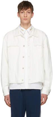 Name White Washed Denim Jacket