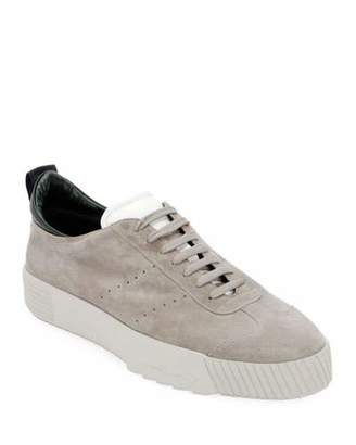 Giorgio Armani Men's Suede Low-Top Sneakers