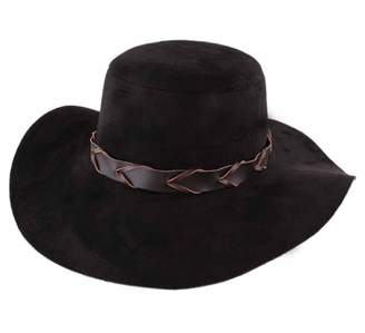 Peter Grimm Tara Leather Floppy Hat Wide Brim Black 697fbf3fd68d