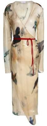 Vionnet Printed Silk-Blend Voile Midi Wrap Dress