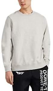Ovadia & Sons Men's Distressed Cotton-Blend Fleece Crewneck Sweatshirt - Light Gray