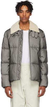 Helmut Lang Black Logo Band Puffer Jacket