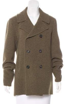 Massimo Alba Wool Double-Breasted Coat w/ Tags