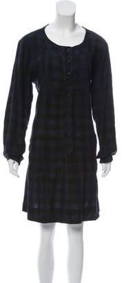 Etoile Isabel Marant Silk-Blend Gingham Dress