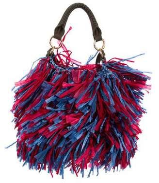 Diane von Furstenberg Fringe Raffia Crossbody Bag