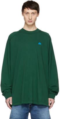 Acne Studios Green Bla Konst Carp Badge Long Sleeve T-Shirt