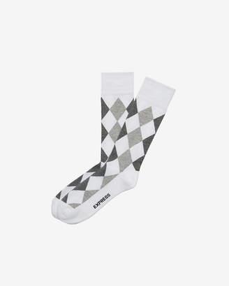 Express Cushioned Diamond Dress Socks