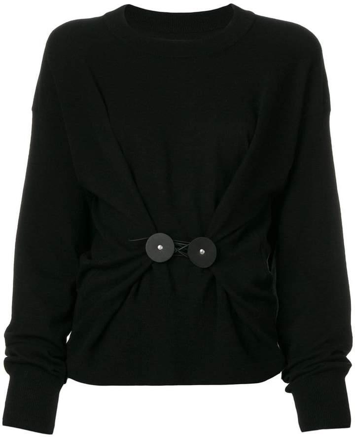 Pullover mit gerafftem Design