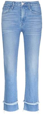 3x1 'Higher Ground Slim Crop' let-out cuff jeans