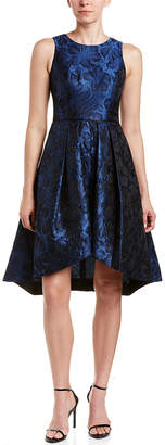Shoshanna Midnight Silk-Blend A-Line Dress