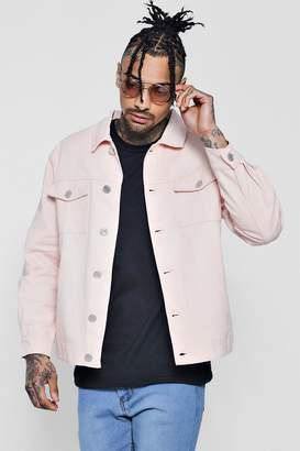boohoo Cotton Twill Trucker Jacket