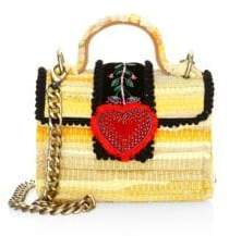 Kooreloo Divine Petite Embroidered& Woven Chain Crossbody Bag