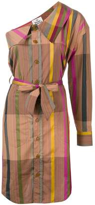 Vivienne Westwood one-shoulder striped shirt dress