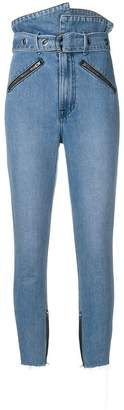 GRLFRND asymmetric waist skinny jeans