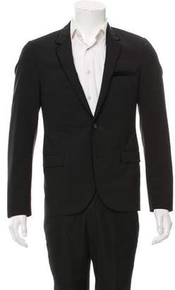 Lanvin Wool Two-Button Contrast Blazer