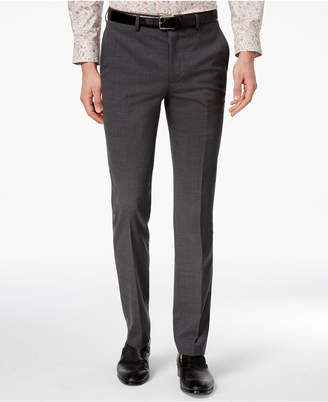 Bar Iii Men's Extra-Slim Fit Gray/Black Mini-Grid Suit Pants, Created for Macy's $175 thestylecure.com
