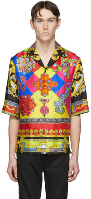 Versace Multicolor Silk Chain Jewelry Shirt