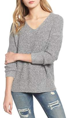 DREAMERS BY DEBUT Marled V-Neck Sweater