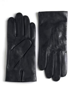 Black & Brown Black Brown Cashmere Lined Leather Gloves